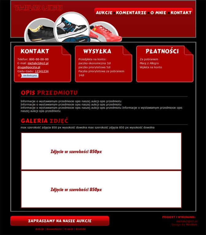 806fd5b904cdf Darmowy szablon allegro obuwie buty czerwony uniwersalny